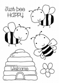 Woodware - Bee Happy - Clear Magic Stamp Set - FRS670